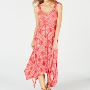 American Rag  Printed Asymmetrical Hem Dress